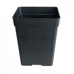 Maceta cuadrada negra 2,2 L
